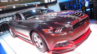 Taking centre stage on the massive and overwhelmingly Pony car-themed Ford stand is this mad version of the latest Mustang. It uses a name last employed in the 1970s for a Mustang, but when it comes down to performance, there's very li