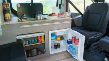 Nissan campervan interior fridge