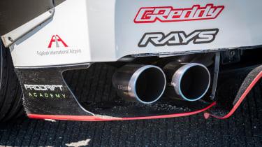 Nissan GT-R 1,390bhp drift car - exhaust