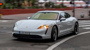 Porsche Taycan 4S - front cornering