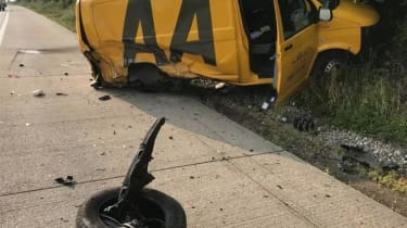 AA van crash