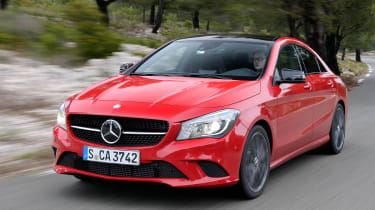 Mercedes CLA 250 CGI front tracking