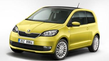 Skoda Citigo facelift 2017 - yellow front quarter