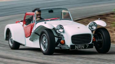 Caterham Seven road trip - Twin Cam SS front