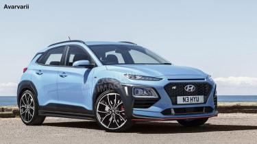 Hyundai Kona N render - front