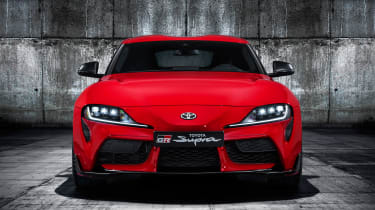 Toyota Supra - red full front