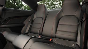 Mercedes C180 Coupe rear seats