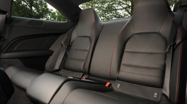 Mercedes C180 Coupe rear seats