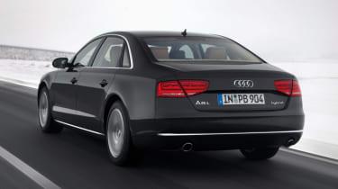 Audi A8 Hybrid rear tracking