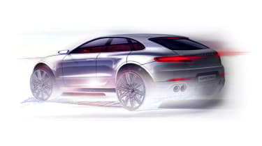 Porsche Macan sketch rear