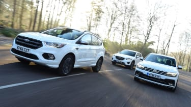 Ford Kuga vs Volkswagen Tiguan vs Mazda CX-5 - head-to-head