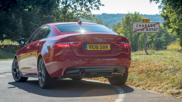 Rear end of Jaguar XE