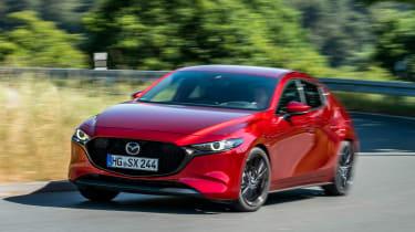Mazda 3 SkyActiv-X - front cornering