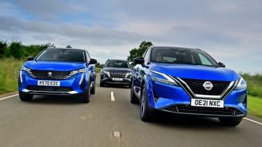 Nissan Qashqai vs Peugeot 3008 vs Hyundai Tucson