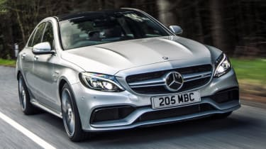 Mercedes C63 AMG saloon - front