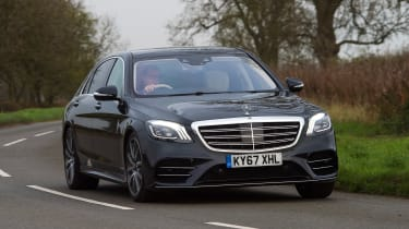Mercedes S-Class - front cornering