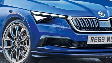Skoda Rapid - front detail (watermarked)