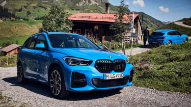 BMW X1 and X2 PHEV - mountains