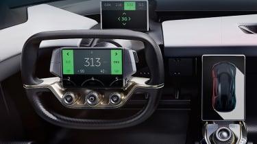 NextEV NIO EP9 electric hypercar - steering wheel