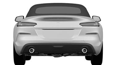 BMW Z4 sketch - full rear
