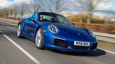 Porsche 911 Targa 2016 UK - front tracking 2