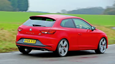 """The Leon Cupra's performance is truly impressive for a front-wheel drive car, and, on top of that, torque steer is well controlled."" - James Disdale, road test editor."