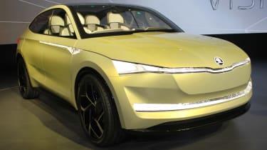 Skoda Vision E Concept - show front