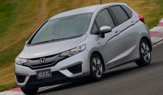 New Honda Jazz Hybrid front three quarters