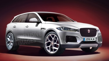 Jaguar F-Pace SUV Auto Express rendering - front
