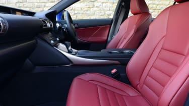 Lexus IS 200t F Sport - front seats