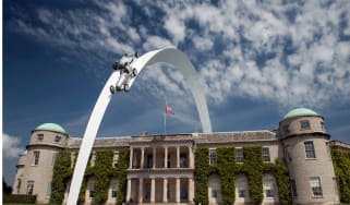 Goodwood Festival of Speed Mercedes Central Feature sculpture