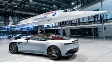 Aston Martin DBS Superleggera Concord - rear 3/4 static with Concord