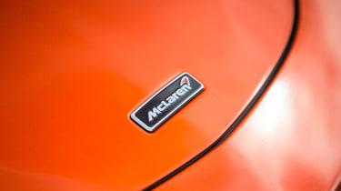 McLaren 570GT long term second report - McLaren badge