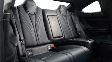 Lexus RC F rear seats