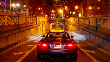 Jaguar F-Type SVR Tunnel Run - rear