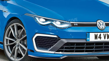 New Volkswagen Golf R - front detail (watermarked)