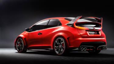 New Honda Civic Type R concept rear three quarters