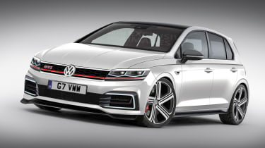 Mk8 VW Golf GTI rendering - front