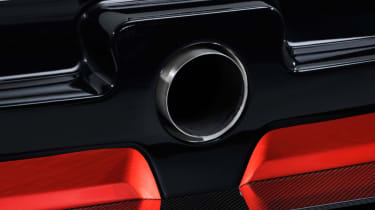 Toyota GR Supra concept exhaust tip