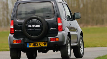 The Jimny is actually very good off-road - it can easily keep pace with a Land Rover Defender through the rough stuff.