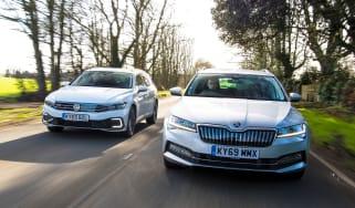 VW Passat vs Skoda Superb hybrid