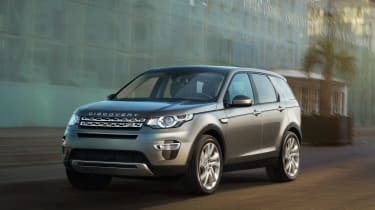 Land Rover Discovery Sport driving
