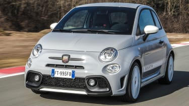 abarth 595 esseesse tracking front quarter