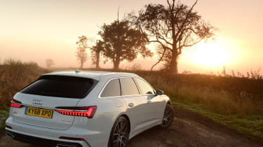 audi a6 avant rear three quarters static