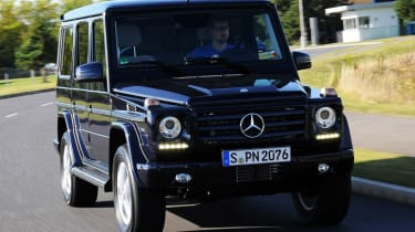 Mercedes G350 Bluetec front tracking