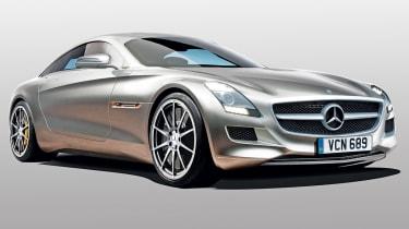 Mercedes SLC front three-quarters