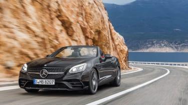 Mercedes SLC roadster - driving black