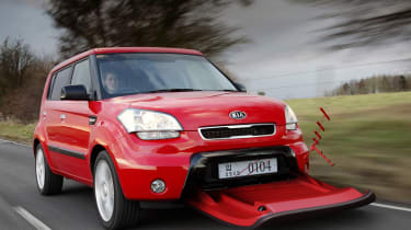 """<a href=""""https://www.autoexpress.co.uk/kia"""">Kia</a><span>&nbsp;really pushed the Photoshop boat out in generating the images of its Aero-Soul April Fools' gag in 2009.&nbsp;</span>"""