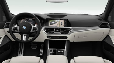 Leaked BMW 3 Series - dash white