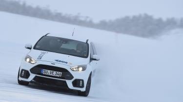 Winter testing in Arjeplog - Focus RS drift